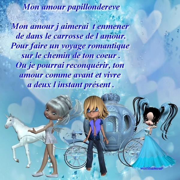 Pour Toi Ma Cherie D Amour Papillondereve Poeme Damour